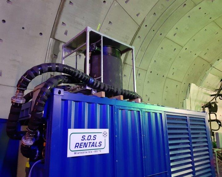 Mietkälte im Einsatz beim Tunnelbau